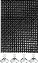 GARDINIA Veelzijdige zonwering, lichtdoorlatend, incl. 8 zuignappen, zwart, 100 x 150 cm