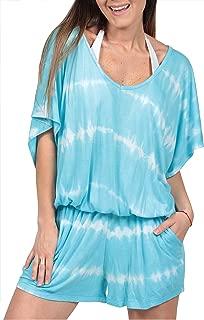 Tie Dye Romper Summer Fashion Beachwear Jumpsuit Blouson Cover Up