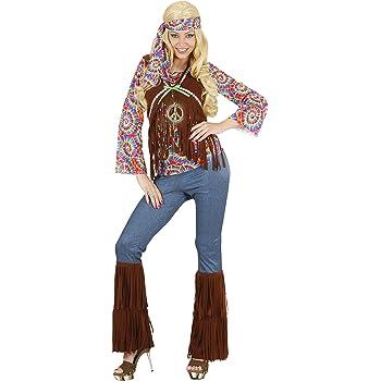 WIDMANN Widman - Disfraz de hippie años 60s para mujer, talla S (S ...