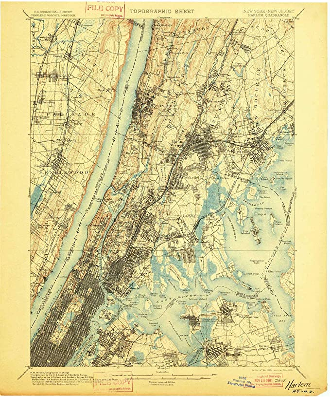1908 Historical 15 X 15 Minute 20.1 x 16.6 in YellowMaps Loon Lake NY topo map 1:62500 Scale