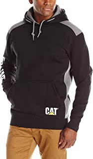 Caterpillar Mens Logo Panel Hooded Sweatshirt