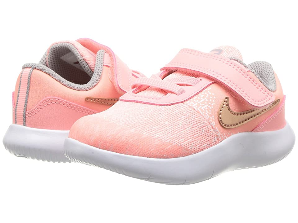 Nike Kids Flex Contact (Infant/Toddler) (Pink Tint/Rose Gold/Storm Pink) Girls Shoes