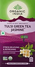 Pack of 3 Organic India Tulsi Green Tea Jasmine- 25 Tea Bags