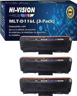 HI-Vision Compatible Samsung MLT-D116L High Yield Black Toner Cartridge Replacement for Xpress M2885FW, M2835DW, M2825FD, M2875FW, M2875FD, M2625D Laser Printers (3 Packs)