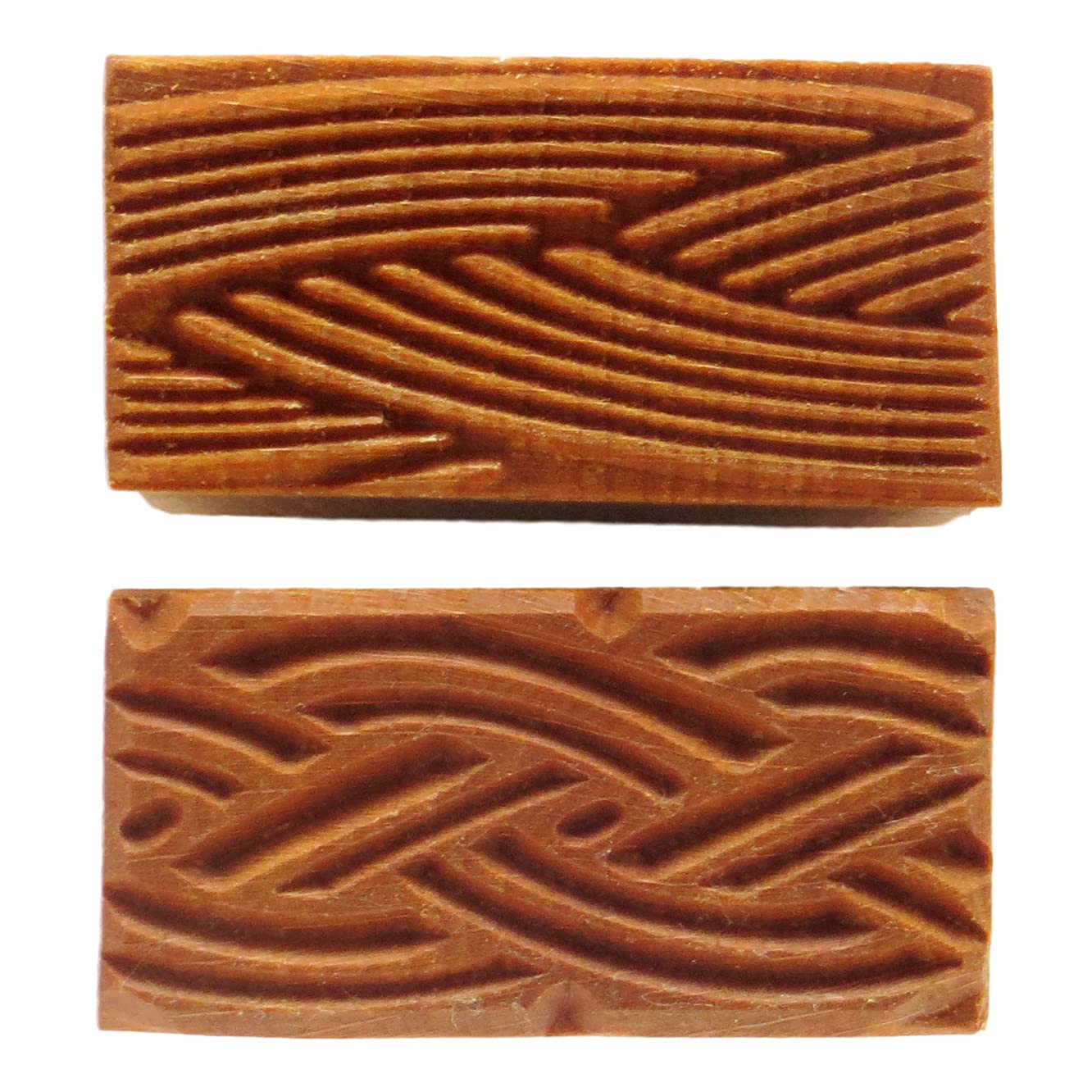 MKM Pottery Tools Stamps 4 Clay Medium Rectangle Decorative Stamp for Clay (Srm-12 Braids)