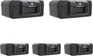 SentrySafe 1200 Fireproof Box with Key Lock, 0.18 Cubic Feet 5 Pack