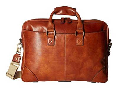 Bosca Dolce Collection Zip Top Brief (Amber) Briefcase Bags
