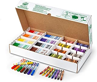 Crayola My First Washable Markers and Triangular Crayons, 128 Ct. Classpack