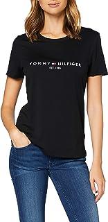 Tommy Hilfiger TH Ess Hilfiger C-nk Reg Tee SS Camicia Donna
