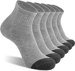 CelerSport 6 Pack Men's Ankle Socks with Cushion Athletic Running Socks