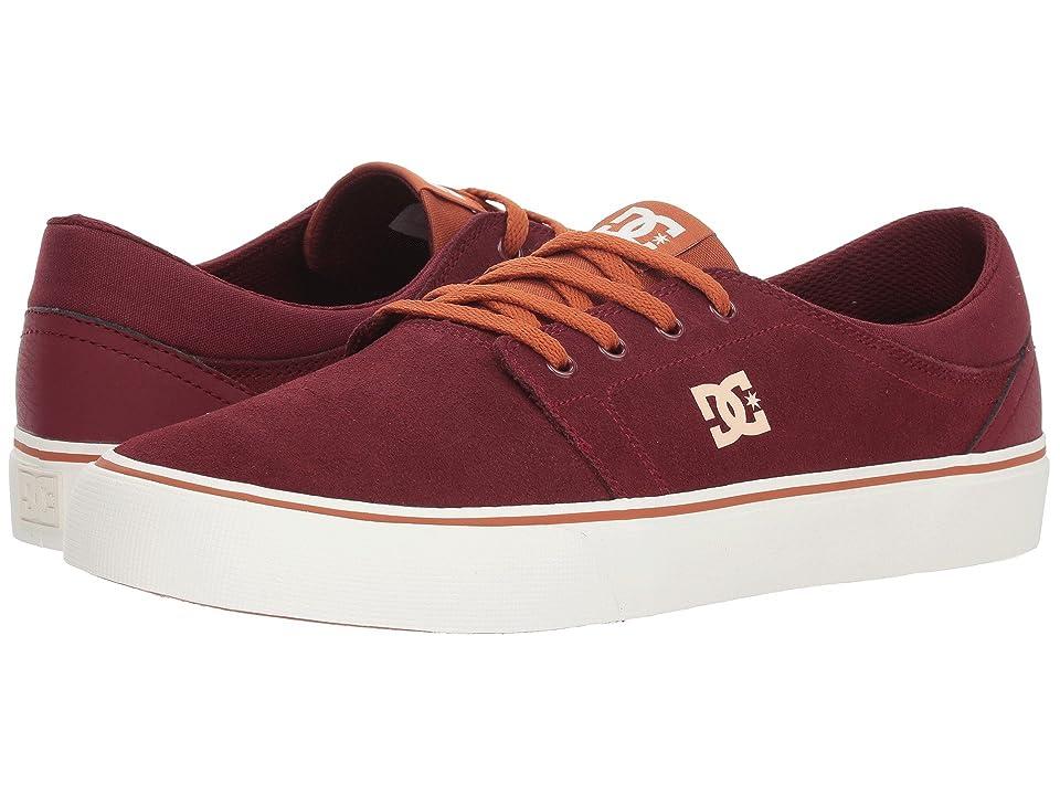 DC Trase SD (Burgundy/Tan) Skate Shoes