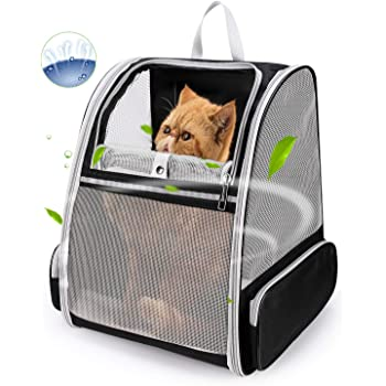 Lollimeow Pet Carrier Backpack for Dogs and Cats,Puppies,Fully Ventilated Mesh,Airline Approved,Designed for Travel, Hiking, Walking & Outdoor Use
