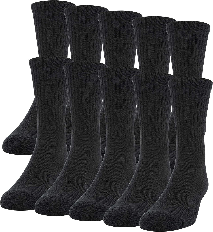 Gildan mens Challenge the Ranking TOP4 lowest price of Japan Active Cotton Crew 10-pairs Socks