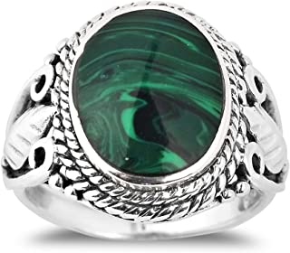 vintage malachite ring