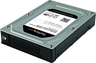 StarTech.com Dual-Bay 2.5in to 3.5in SATA Hard Drive Adapter Enclosure with RAID - Supports SATA III & RAID 0, 1, Spanning...