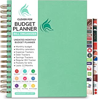 Clever Fox Budget Planner & Monthly Bill Organizer with Pockets. Expense Tracker Notebook, Budgeting Journal, and Financia...