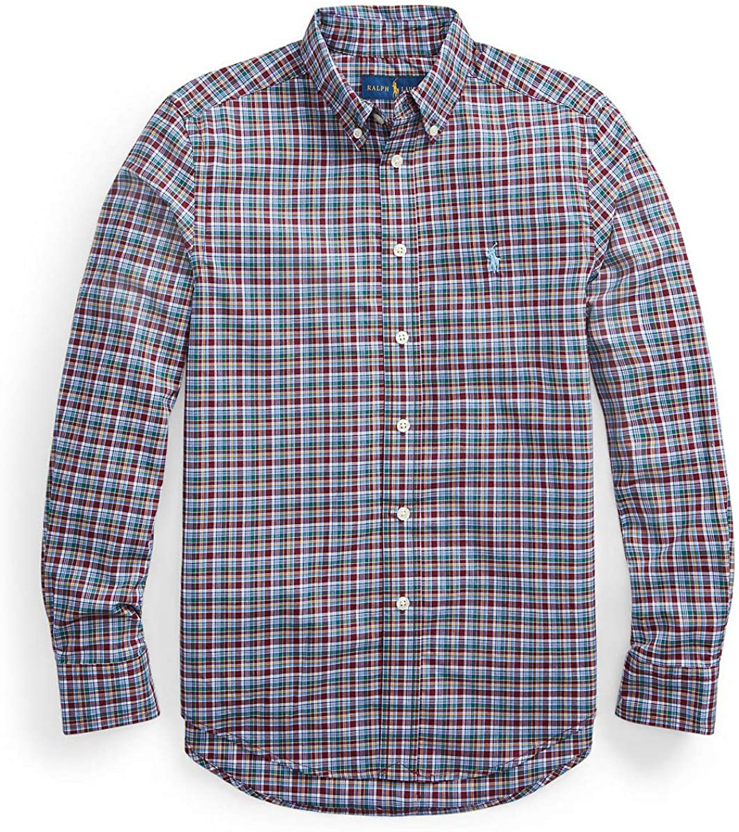 Polo Ralph Lauren Big Boys Long Sleeve Plaid Poplin Shirt