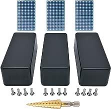 3 pcs 1590A small aluminum enclosure, triple pack for project, mini pedal, box incl. PCB and step drill, black