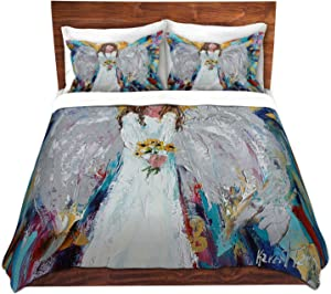 Dia Noche Designs Microfiber Duvet Covers Karen Tarlton - Angel with Sunflowers