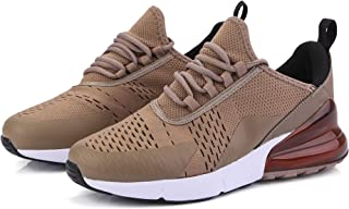 Men's Shoes Summer 2019 New Low to Help Mesh Casual Sports Shoes Men's Hot Shoes Men's Tide Shoes Running Shoes (Color : Khaki, Size : 43)