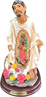 8 Inch Statue San St Juan Diego Saint W/Our Lady of Guadalupe