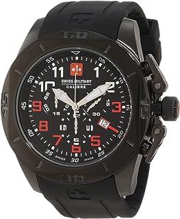 Swiss Military Calibre Men's 06-6D1-13-007R.4 Defender IP Black Chronograph Sub-seconds Date Rubber Watch