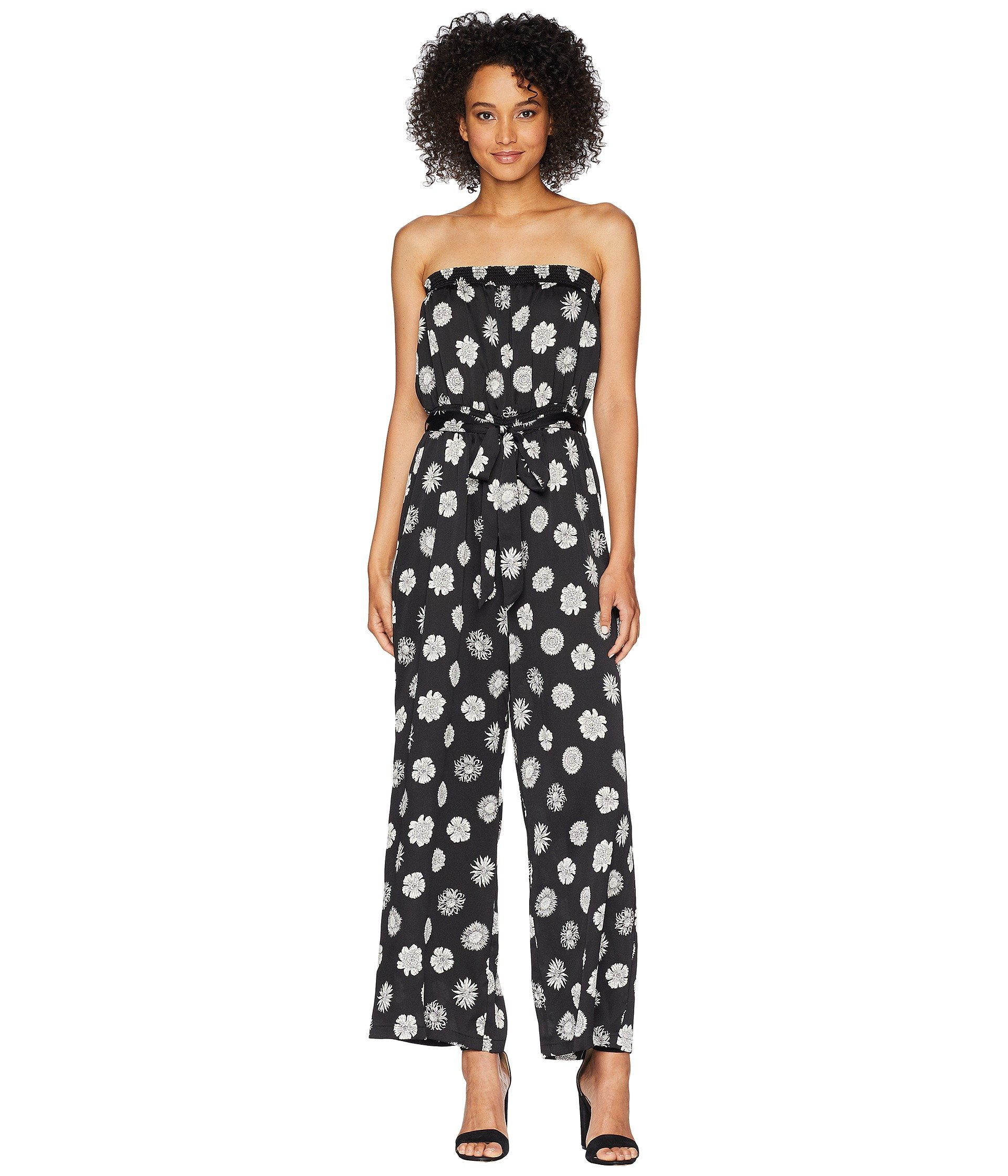Enterizo para Mujer Vince Camuto Strapless Botanical Tropic Belted Jumpsuit  + Vince Camuto en VeoyCompro.net