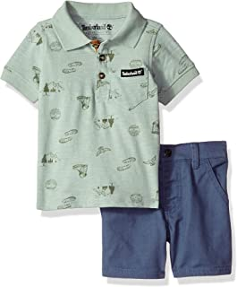 Timberland Baby Boys 2 Pieces Polo Shorts Set
