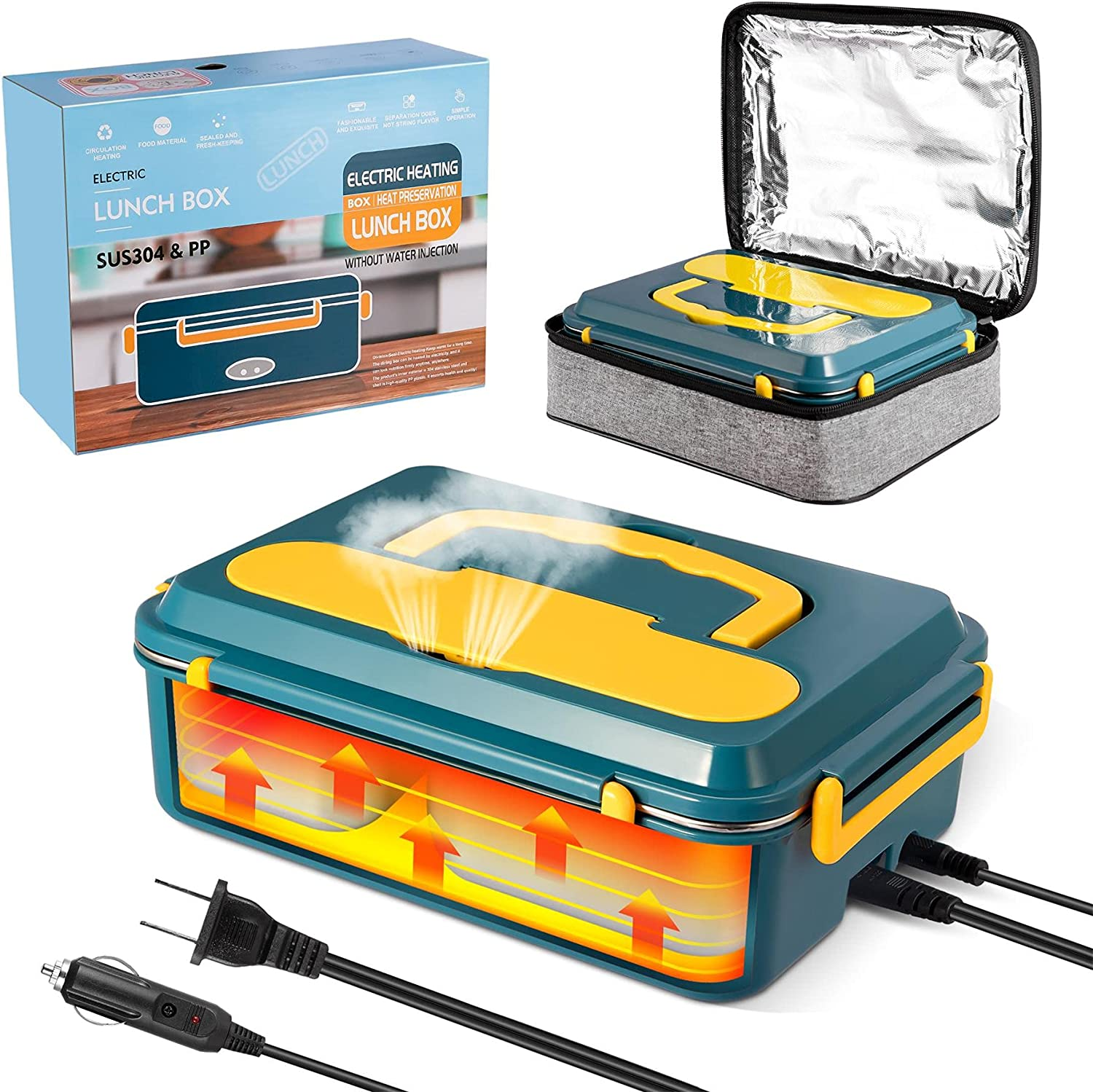 Electric Lunch Box for Max 54% OFF Car Home Upgrade Heated and Our shop OFFers the best service
