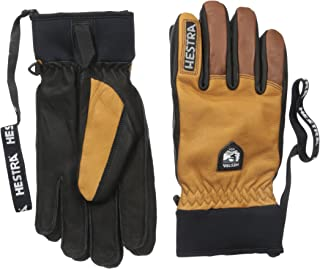Hestra Ski Gloves: Army Leather Winter Cold Weather Glove-Removal Liner