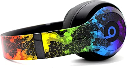 Beats by Dre Studio 3 Wireless Headphones - Custom Painted Dr. Dre Bluetooth - (Rainbow Hex)