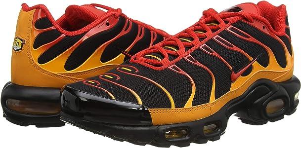 Nike Air Max Plus, Baskets Homme, Black/Chile Red/Vivid Orange, 41 ...