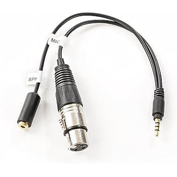Movo TCB2 adaptador para smartphones de conector de entrada de micrófono TRS (hembra) a TRRS (macho) con toma de auriculares para iPhone y Android: Amazon.es: Electrónica