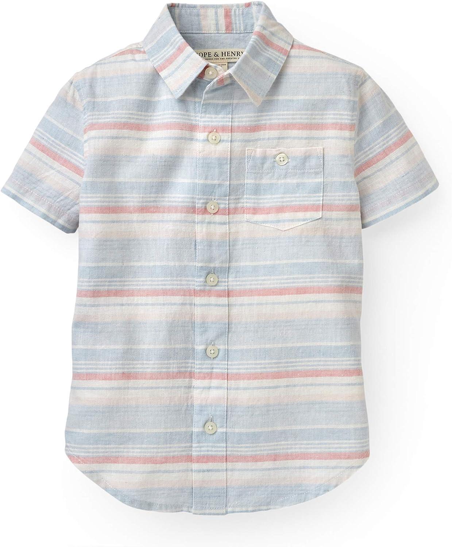 Hope & Henry Boys' Short Sleeve Button Down Shirt
