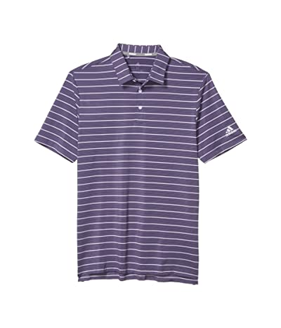 adidas Golf Ultimate365 Pencil Stripe Polo Shirt (Tech Purple/Collegiate Navy/Purple Tint) Men
