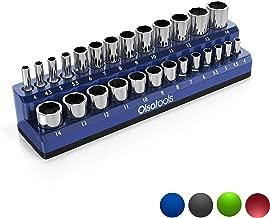 Olsa Tools Magnetic Socket Holder | 1/4-inch Drive | Metric | Blue | Holds 26 Sockets | Premium Quality Tools Organizer