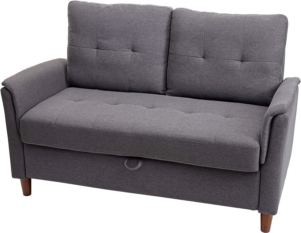 Mendler, divano a 2 posti,con vano contenitore 72695