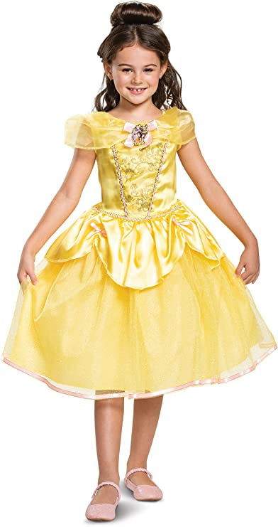 Princess Dress Yellow Girls Belle Beauty and the Beast Fancy Dress Costume