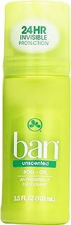 Ban Roll-On Antiperspirant Deodorant, Unscented, 3.5 oz