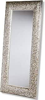 Phanta Coastal Mother of Pearl Tan, Rose Large Leaning Modern Floor Mirror