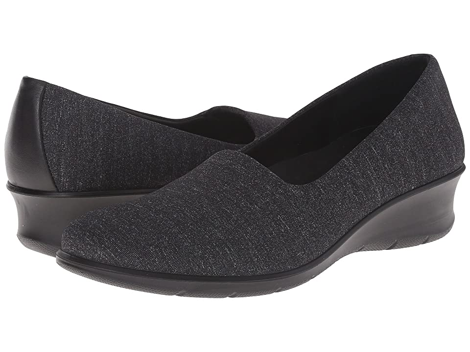 ECCO Felicia Stretch (Black/White/Black) Women