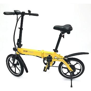 SK8 eBike Urban Beetle Bicicleta eléctrica plegable, Amarillo ...
