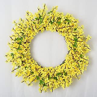 Lvydec Artificial Forsythia Flower Wreath - 17