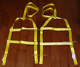 2x DEMCO KAR KADDY Basket Straps Tow Dolly Wheel Net LOOP END Dual Edge Protect
