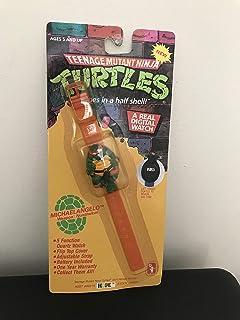 MICHAELANGELO Teenage Mutant Ninja Turtles - 5 Function Quartz Digital Watch (Vintage 1989)