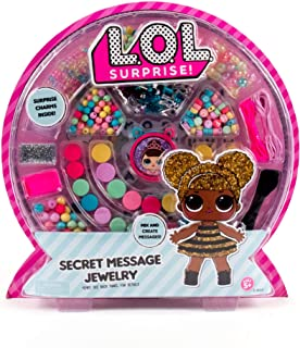 L.O.L. Surprise! Secret Message Jewelry by Horizon Group Usa, DIY Secret Jewelry Making Kit, Over 400 Beads & Charms Included, Multicolored (Renewed)