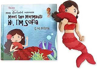 Plush Mermaid Doll & Mermaid Book Play Set-Super Cute Mermaid Toy (Sofia) - A Great Mermaid Gift for Girls