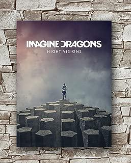 Zero.o Imagine Dragons - Night Visions Poster Size 18 Inches X 24 Inches,Imagine Dragons Posters Wall Poster Print