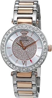 Juicy Couture Women's Analogue Quartz Watch with Stainless Steel Strap 1901230