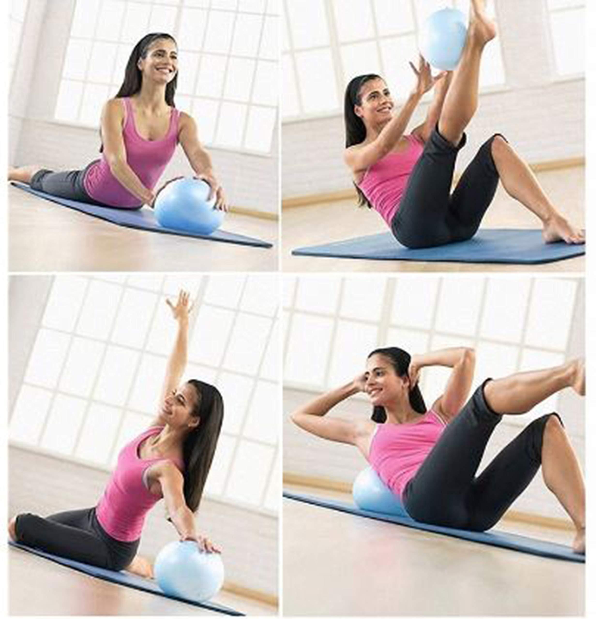 Slosy Pelota para Pilates Accesorios Gym Bola De Yoga Pack 2 ...